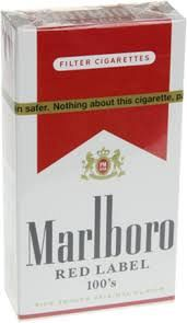 Marlboro Medium 100'sLabel Box Red