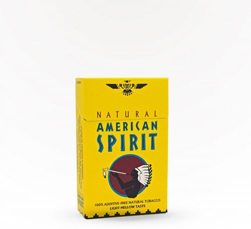 American Spirit Lights Mellow Yellow Box