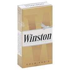 Winston Lights 100's Gold Box