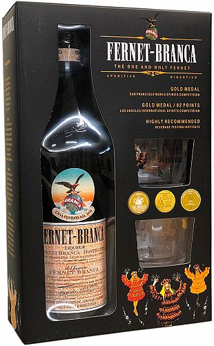 Fernet-Branca Gift Set 750ml