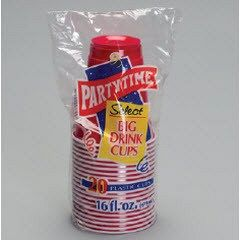 Partytime Red Cups  20pk 16oz