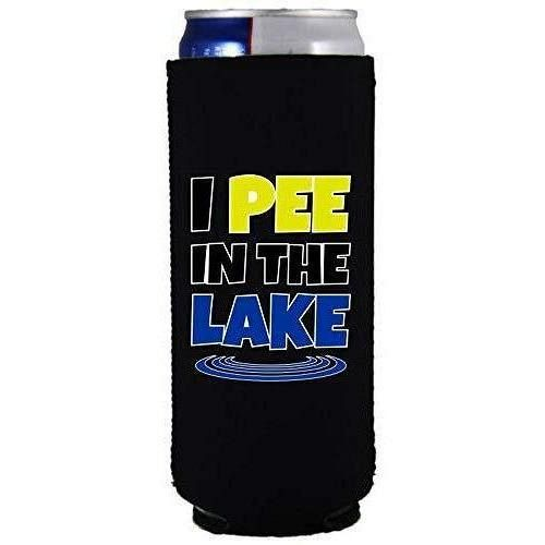 I Pee In The Lake Slim Can Coolie