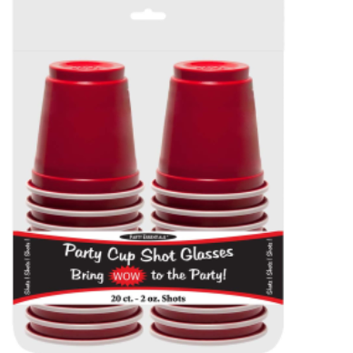Plastic Red 20 ct. Shot Glass 2oz